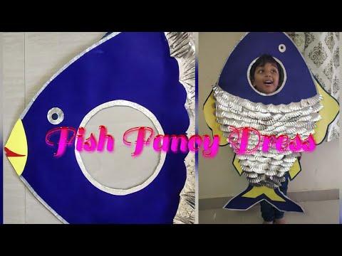 Fish Fancy Dress🐠🐋🐟    DIY Kids Fancy Dress    How To Make Fish Fancy Dress For Kids👶