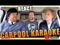 Paul McCartney & James Corden KARAOKE - Marcio Guerra Reagindo React Reação The Beatles
