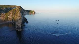 Mako Jetboards & Parajet Paramotors at Durdle Door, Dorset UK