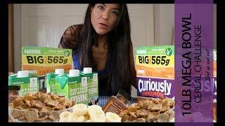 10lb MEGA BOWL CEREAL CHALLENGE, Woman Vs Food, Battling the Best.