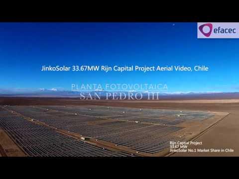 JinkoSolar Supplies 33.67 MW of PV modules to Rijn Capital in Chile