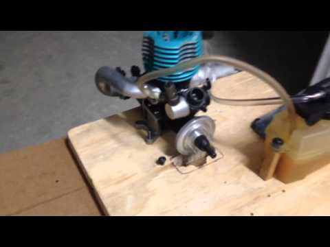Nitro Rc Engine Bench Test Picco Small Block B Youtube