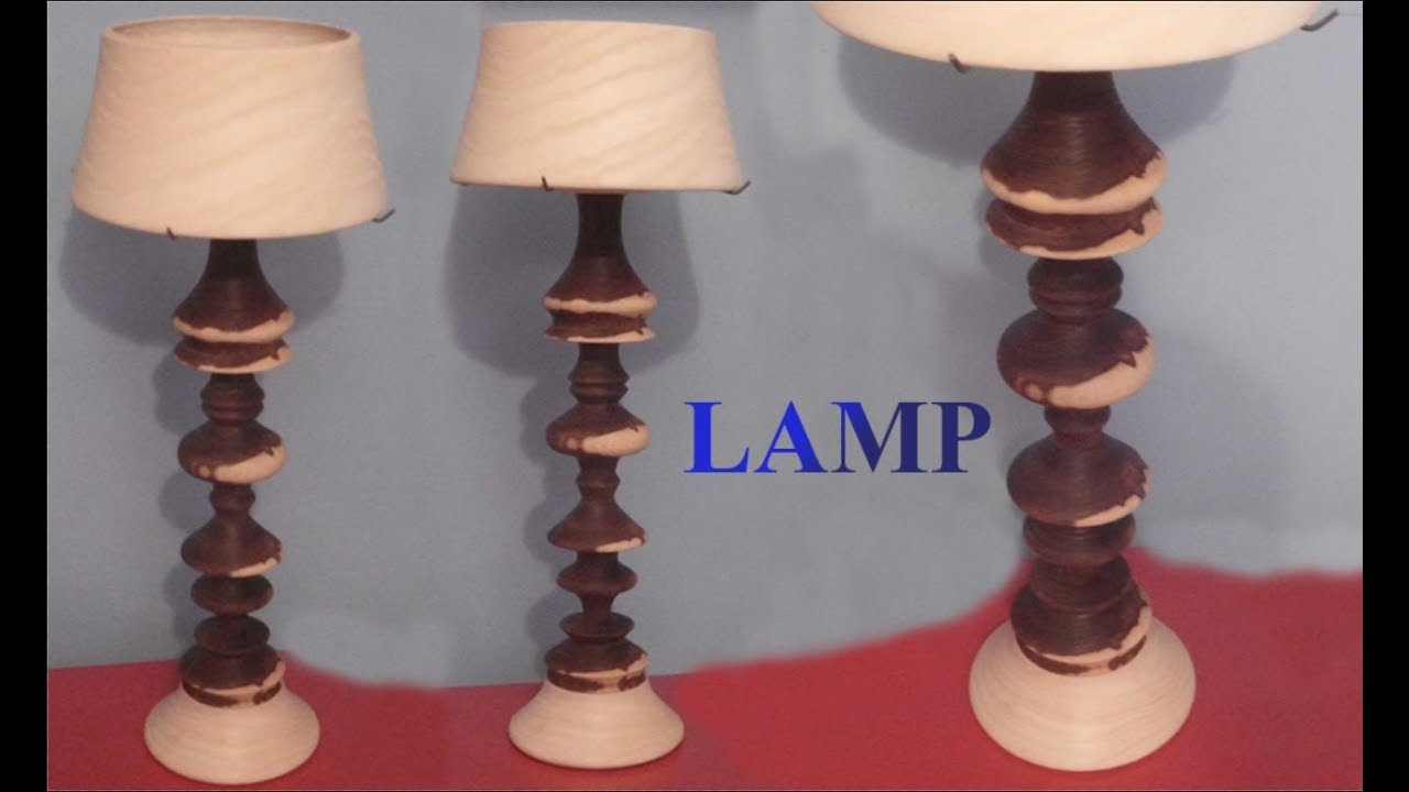 Woodturning project turning a lamp youtube for Table lamp quit working