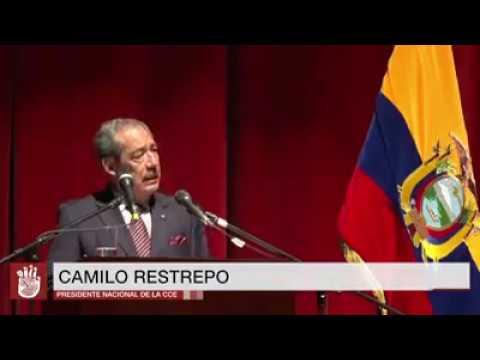 Discurso de posesión de Camilo Restrepo Guzmán como presidente de la Sede Nacional de la CCE