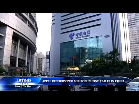Apple records two million iPhone 5 sales in China