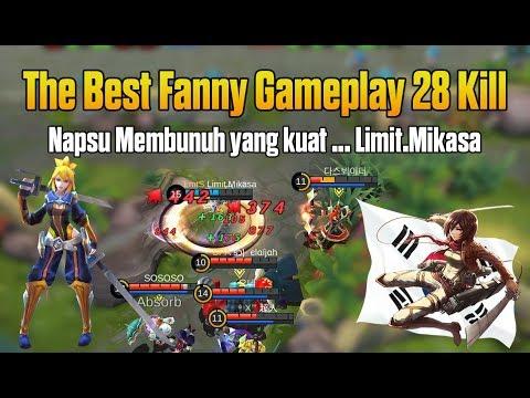 DAHSYAT !!! Ini Baru Mikasa The Best Fanny Gameplay Mobile Legends
