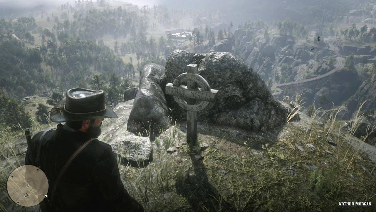 red dead redemption 2 john visits arthur s grave annoys
