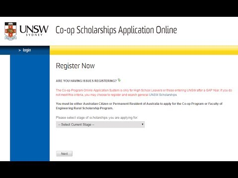 REGISTER For The UNSW Co-op Program
