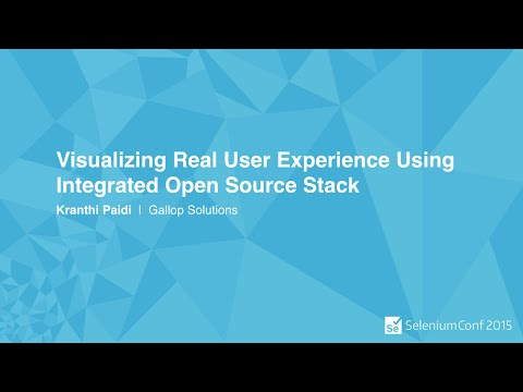 Visualizing Real User Experience Using Integrated Open Source Stack