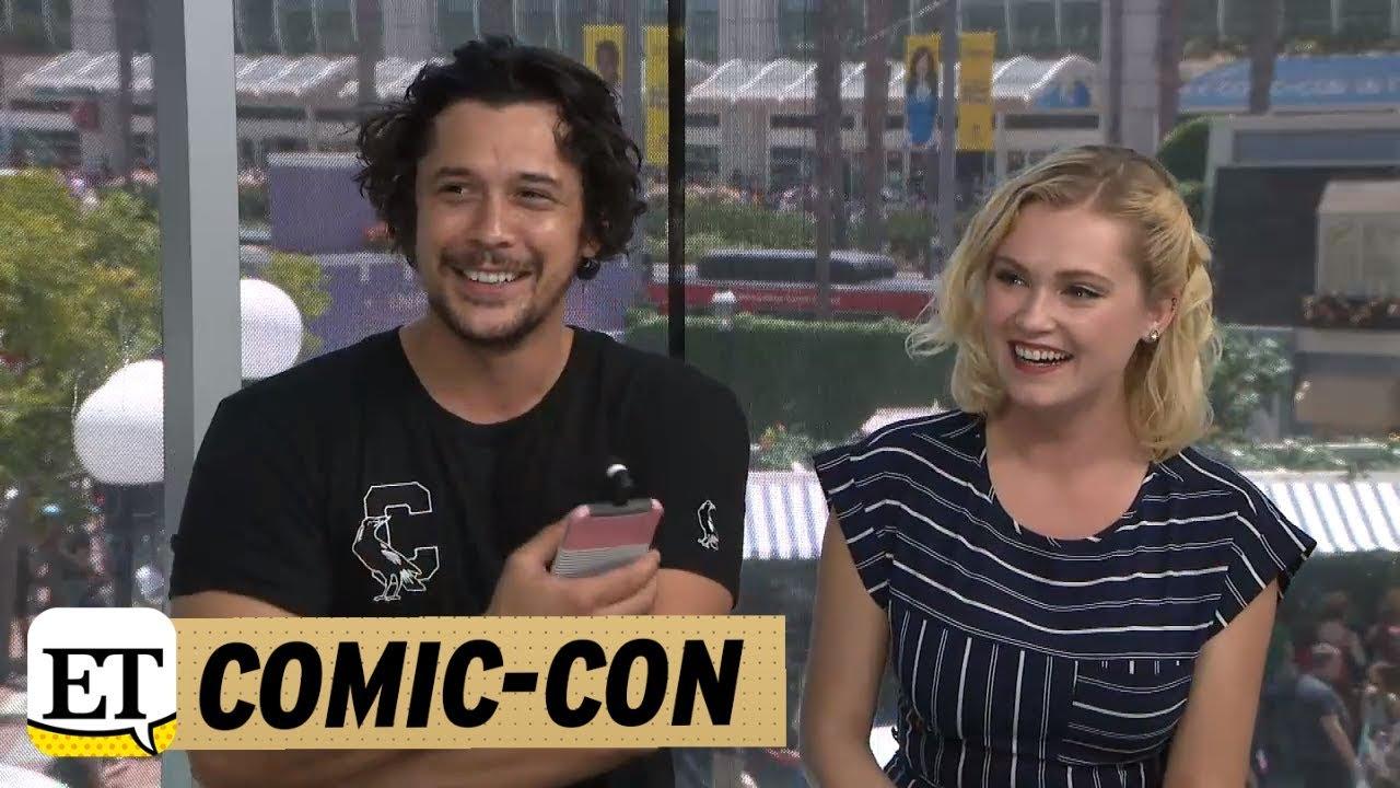 Comic Con 2018 The 100 Bob Morley And Eliza Taylor Talk Season 5