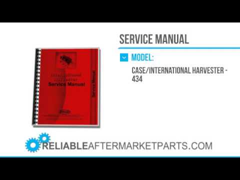 2891 new international harvester 434 tractor service manual youtube rh youtube com 484 International Tractor IH 434 Tractor