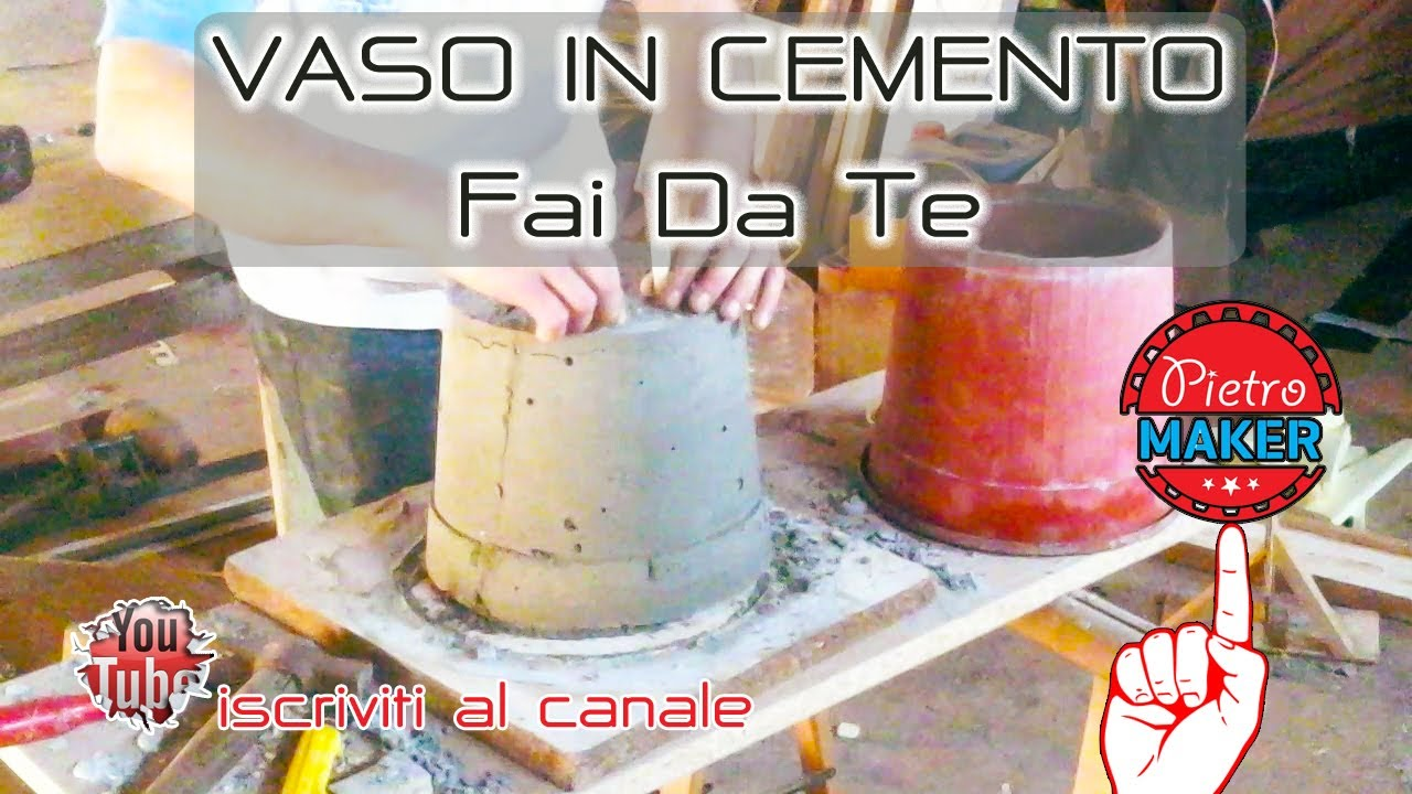 Base Per Ombrellone Fai Da Te.Fai Da Te Come Fare Uno Stampo Per Vasi In Cemento Youtube
