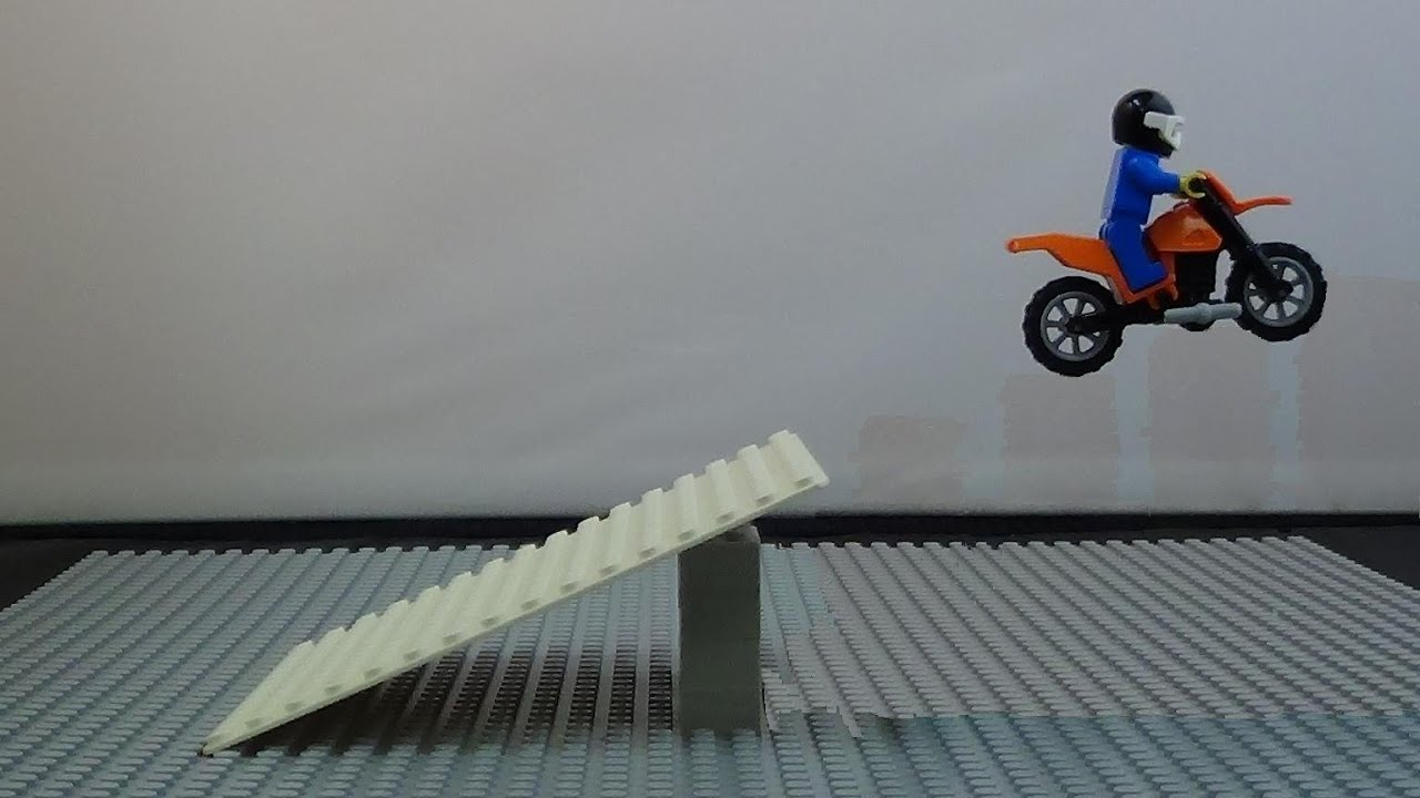 Lego Motorcycle Jumping Stop Motion Photography