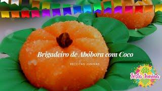 Receita de Brigadeiro de Abobora com Coco