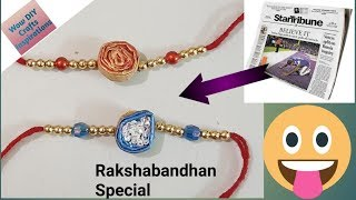 How to make rakhi at home | Best Out of waste | Newspaper Crafts | Wow DIY Crafts Inspirations