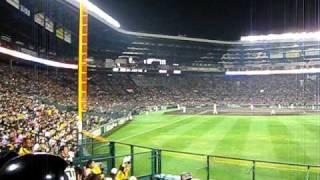 4月7日(火)、リニューアルした阪神甲子園球場での開幕戦。 ライトス...