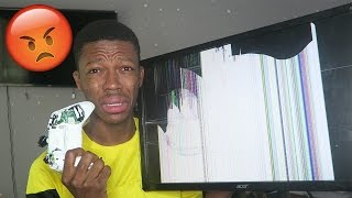 THE BIGGEST FIFA RAGE IN HISTORY😡..BREAKS TV,WINDOW,MIC,CONTROLLER ETC ($1000+ WORTH)