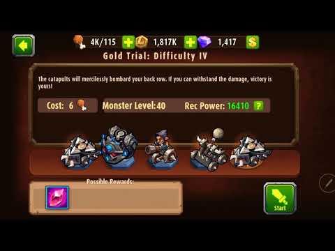 Magic rush heros gold trial difficult 4