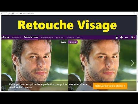 retouche photo visage maquillage en ligne