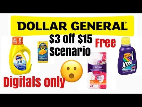Dollar General $3 Off $15 Scenario Free mac N Cheese And More!