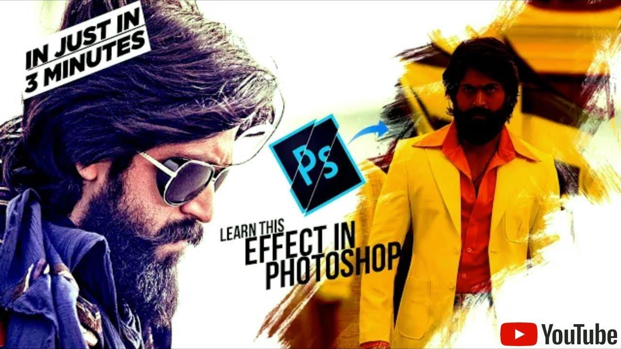 #KGF Movie  Poster Design using brush in Photoshop – Hindi Tutorial
