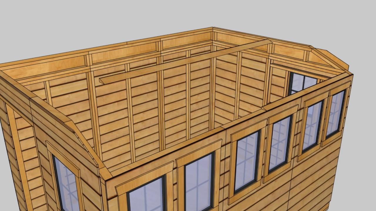 Attirant Cedar Shed Kits | SunShed Garden 8x12 Assembly Video