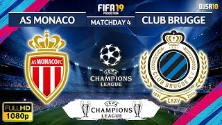 AS Monaco vs Club Brugge 0-4 | Champions League 2018/19 | Matchday 4 | 07/11/2018 | FIFA 19
