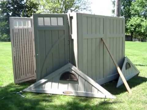 How To Build A Plastic Shed Youtube