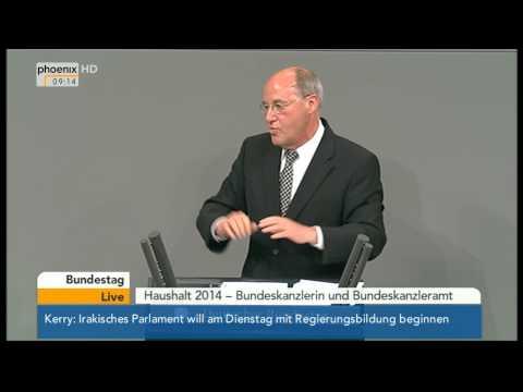 Bundestag - Generaldebatte zum Kanzleramtsetat mit Gregor Gysi am 25.06.2014