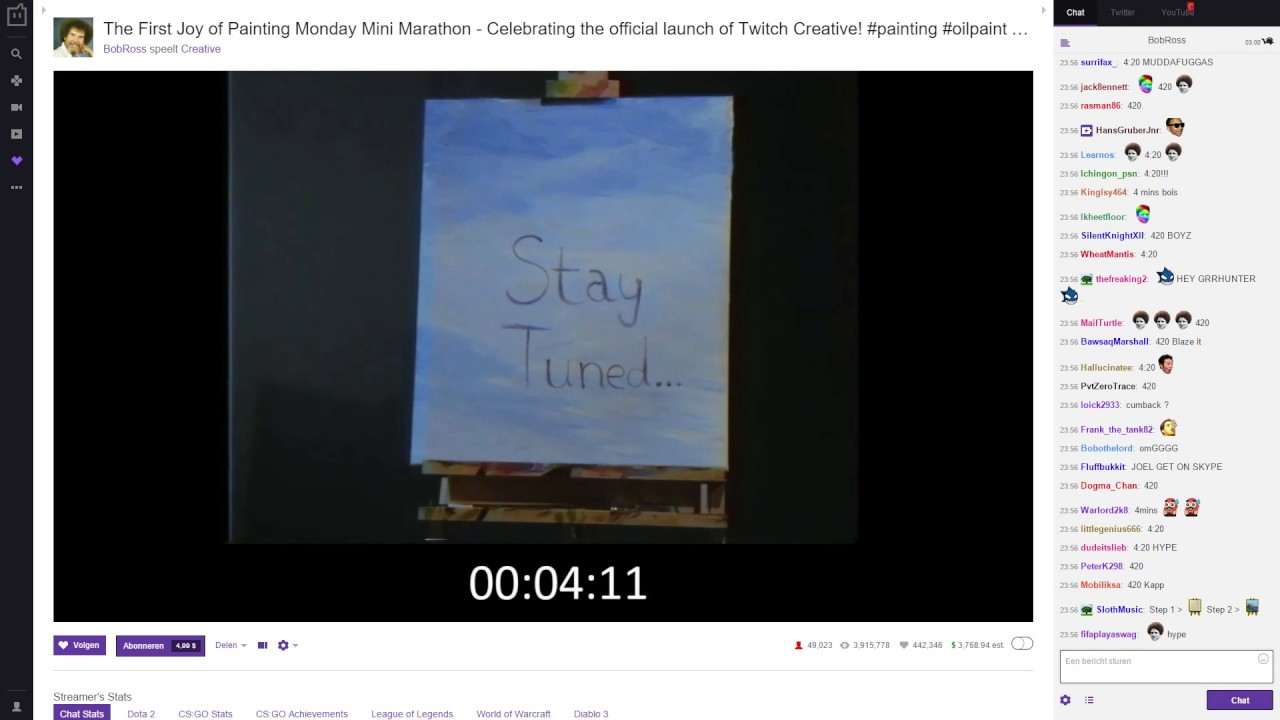 What Happened After The Bob Ross Twitch Countdown? Youtube