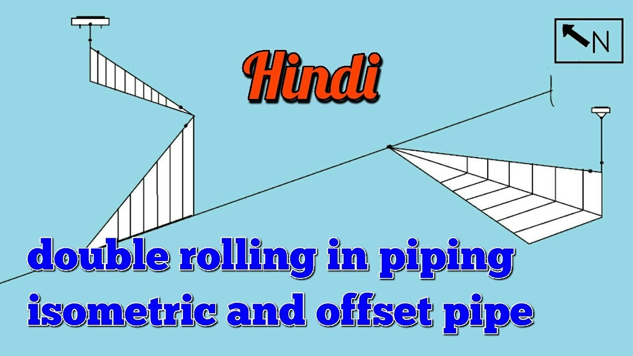 Double Rolling In Piping Isometric Isometric Drawing Rolling Rolling