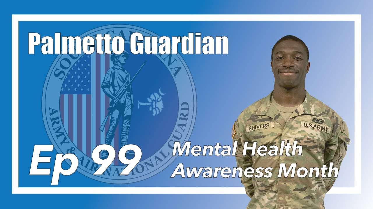 On this episode of the Palmetto Guardian, we talk with U.S. Army 1st Lt. Tremaine Shivers, South Carolina National Guard Resilience and Risk Reduction specialist, about May being Mental Health Awareness Month and resources out there for service members and their families. The Palmetto Guardian is hosted by Sgt. Chelsea Baker and Spc. Flonasia Neals with the South Carolina National Guard Public Affairs Office.   :00-Intro :30- What is a Resilience and Risk Reduction Specialist? 1:05- Mental Health Awareness in May 1:30- Ice Cream Social Event 3:02- What resources this section provides Soldiers  3:46- Opportunity for more events 5:23- Why 1st Lt. Shivers decided this was the job for him 7:49- This section can be an additional resource along with the Soldier's chain of command  8:10- 1st Lt. Shivers' personal testament regarding mental health 9:29-The stigma behind asking for help 10:22- Why Soldiers should ask for help 12:20- What are some signs to look for in a person needing help 17:33- Know that sometimes there are no signs 18:25-Something little can go far   20:25-Outro   South Carolina National Guard https://www.scguard.ng.mil/ Youtube https://www.youtube.com/user/SCNationalGuard Facebook https://www.facebook.com/SCGuard/ Instagram https://www.instagram.com/official_scguard/ Twitter https://twitter.com/SCNationalGuard flickr https://www.flickr.com/photos/scguard/ DVIDS  https://www.dvidshub.net/unit/SCNG