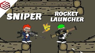 DA2 MiniMilitia Sniper vs Rocket Launcher | Which is the Best of the Best !?