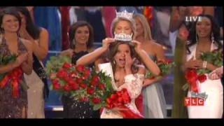 Miss America 2009 | Katie Stam (Miss Indiana) crowning moment & questions/answers for the top-7