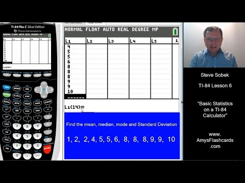 Basic Statistics On A TI 84 Calculator