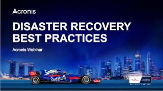 Disaster Recovery Best Practices