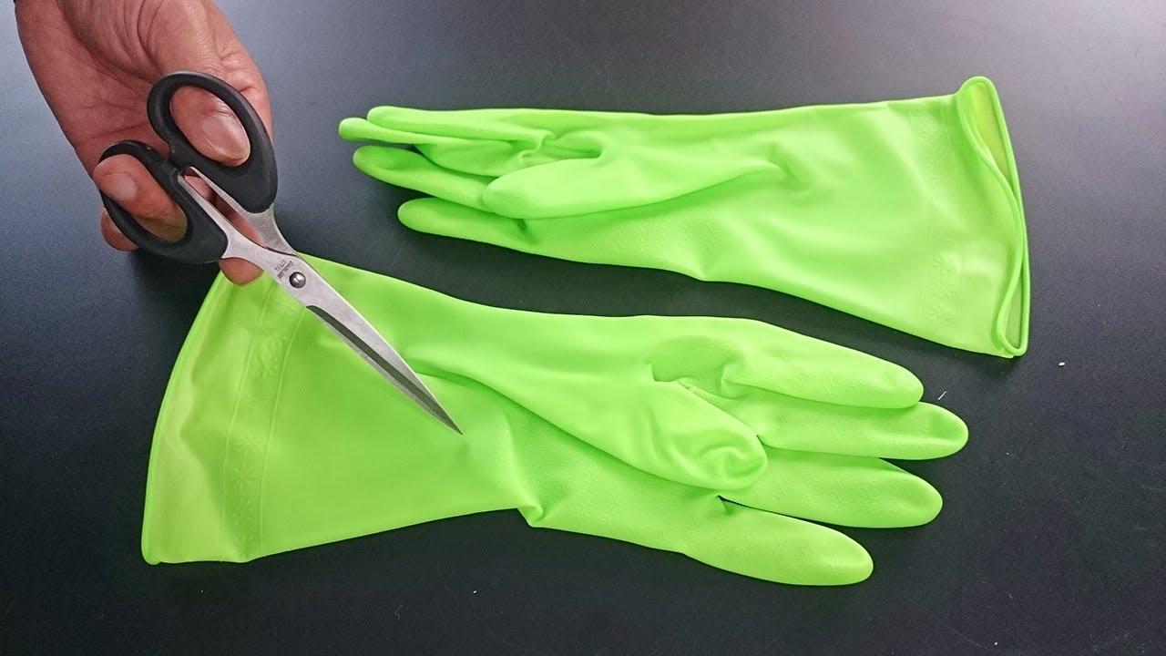 橡胶手套破了不要扔,简单剪一刀,解决了很多家庭的烦恼,方法真棒