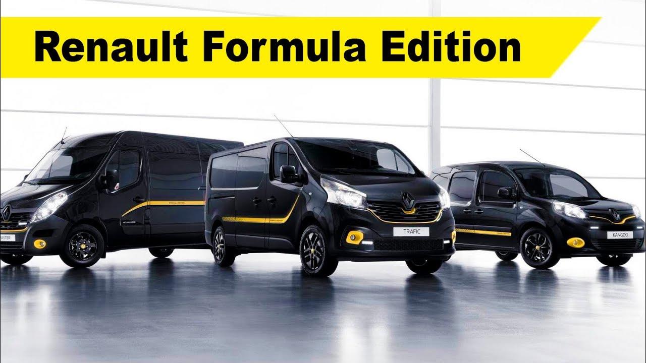 "renault kangoo, trafic and master ""formula edition"" special series"