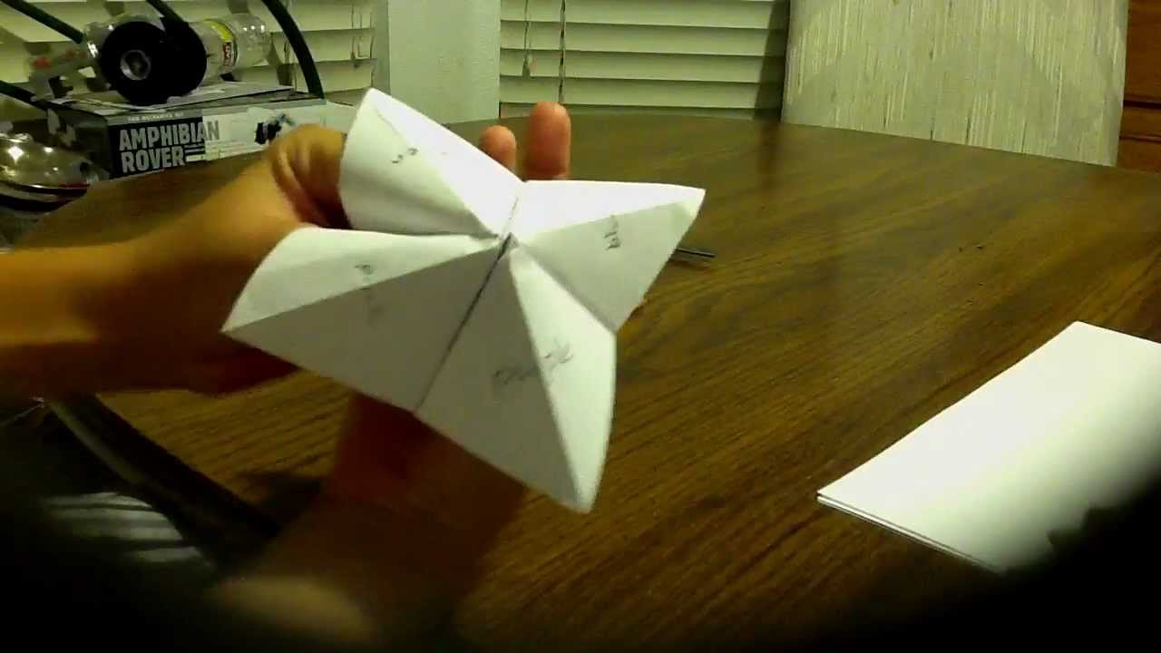 How to make a paper fortune teller and how to use it hd youtube jeuxipadfo Gallery