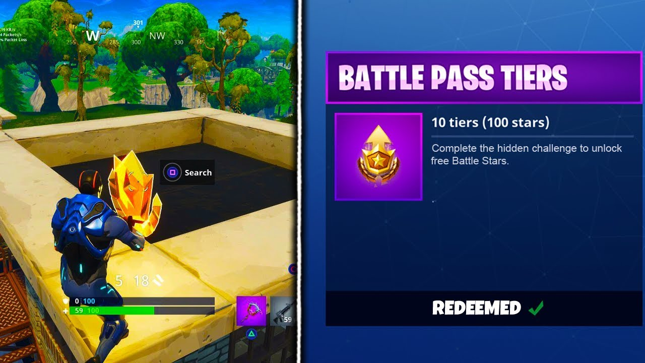 how to get free battle stars in fortnite fortnite battle royale season 4 secret battle stars - fortnite how to get battle stars