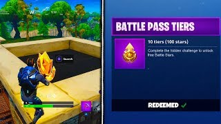 HOW TO GET FREE BATTLE STARS In Fortnite - Fortnite Battle Royale Season 4 SECRET Battle Stars