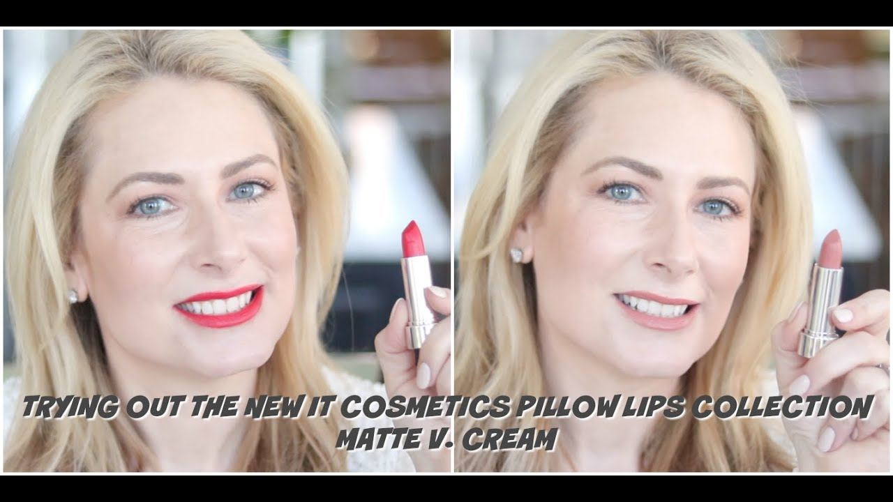 trying out the it cosmetics new pillow lips collection msgoldgirl