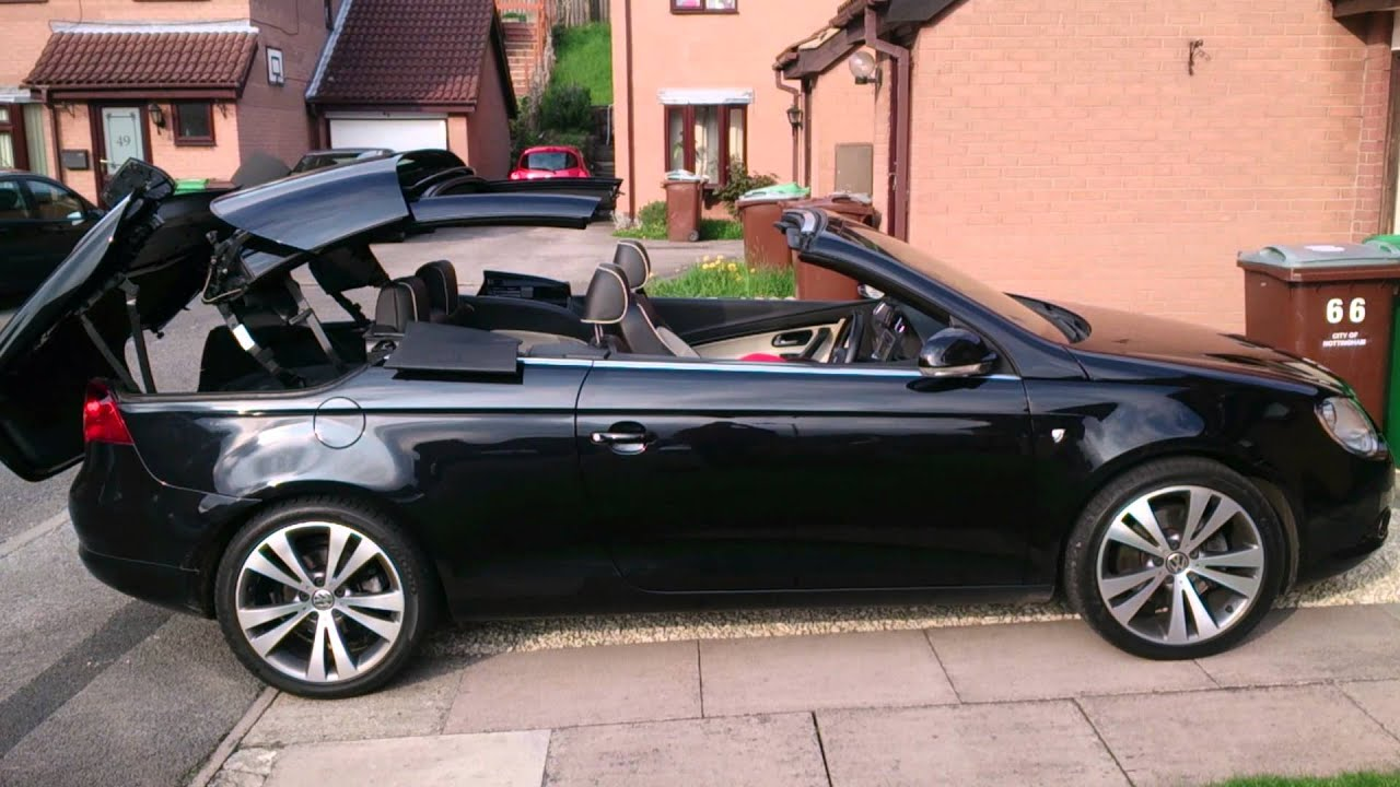 Vw Eos Individual Roof Operation Youtube