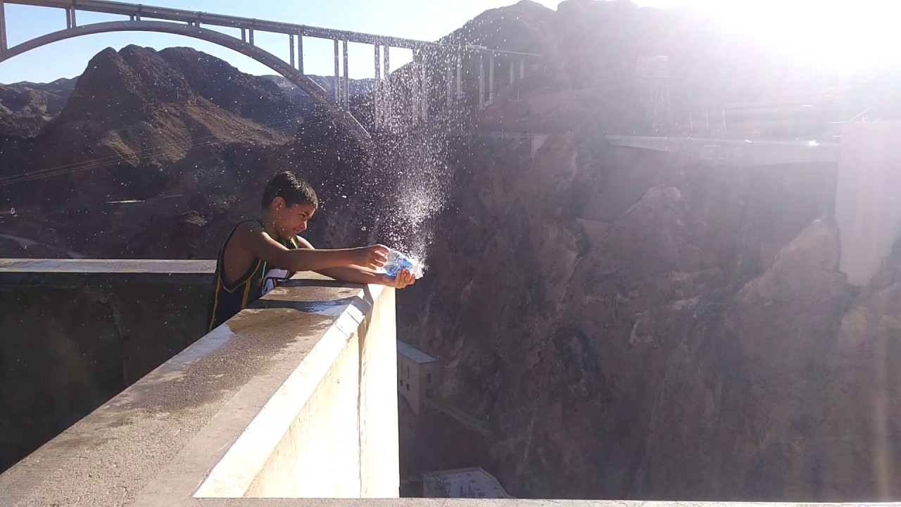Hoover Dam water bottle experiments