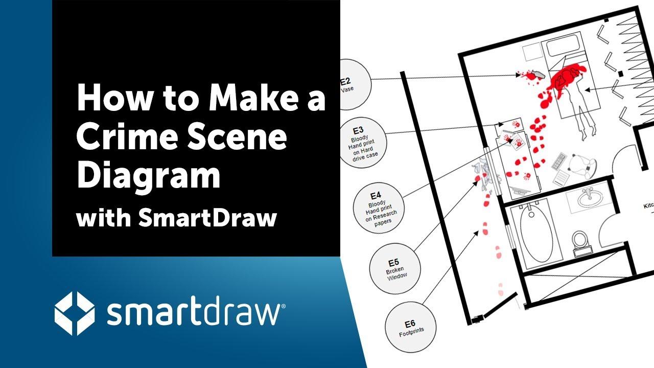 Make A Crime Scene Diagram Diagramming With Smartdraw Youtube