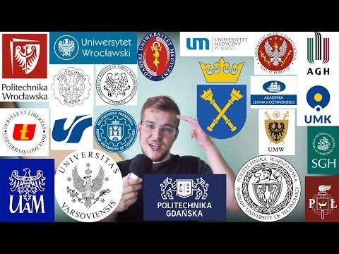 Лучший университет в Польше. (ТОП-20 ВУЗОВ Польши)