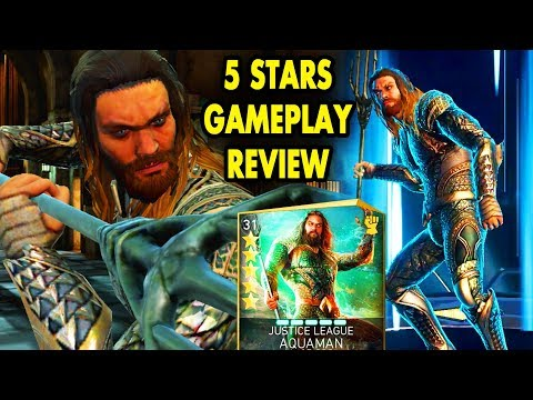 Injustice 2 Mobile. 5-STARS Justice League Aquaman Review + Gameplay. Worst Justice League Hero?