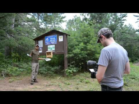 Posting Wolf Caution Area Maps In Bayfield County, Wisconsin