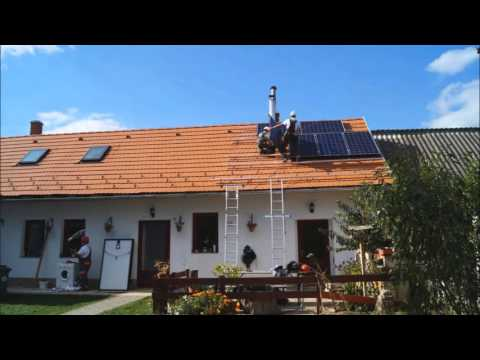 Solar panel installation on my rooftop
