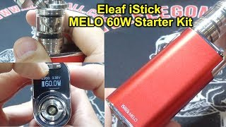 /Eleaf iStick MELO 60W Starter Kit   60w   Built-in 4400mah battery   5 Color options